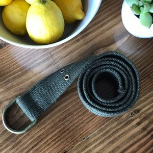 Other - Army Green Fabric Belt w/brushed Gold Hardware